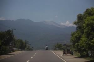 On the way to Mambukal, active Mt Kanlaon