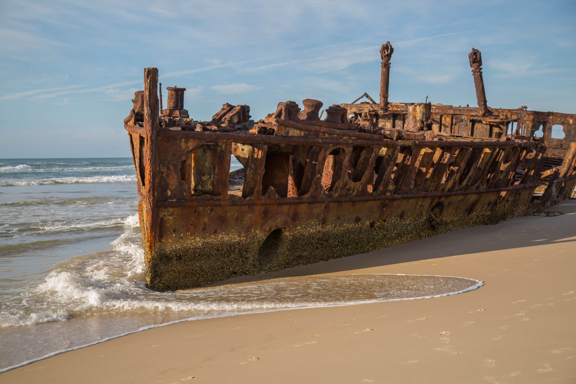 Wreck of the Maheno, stranded in July 1935, Fraser Island