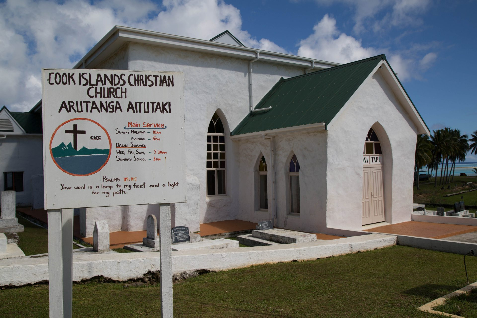 Oldest church building on the Cook Islands (1828), Aitutaki