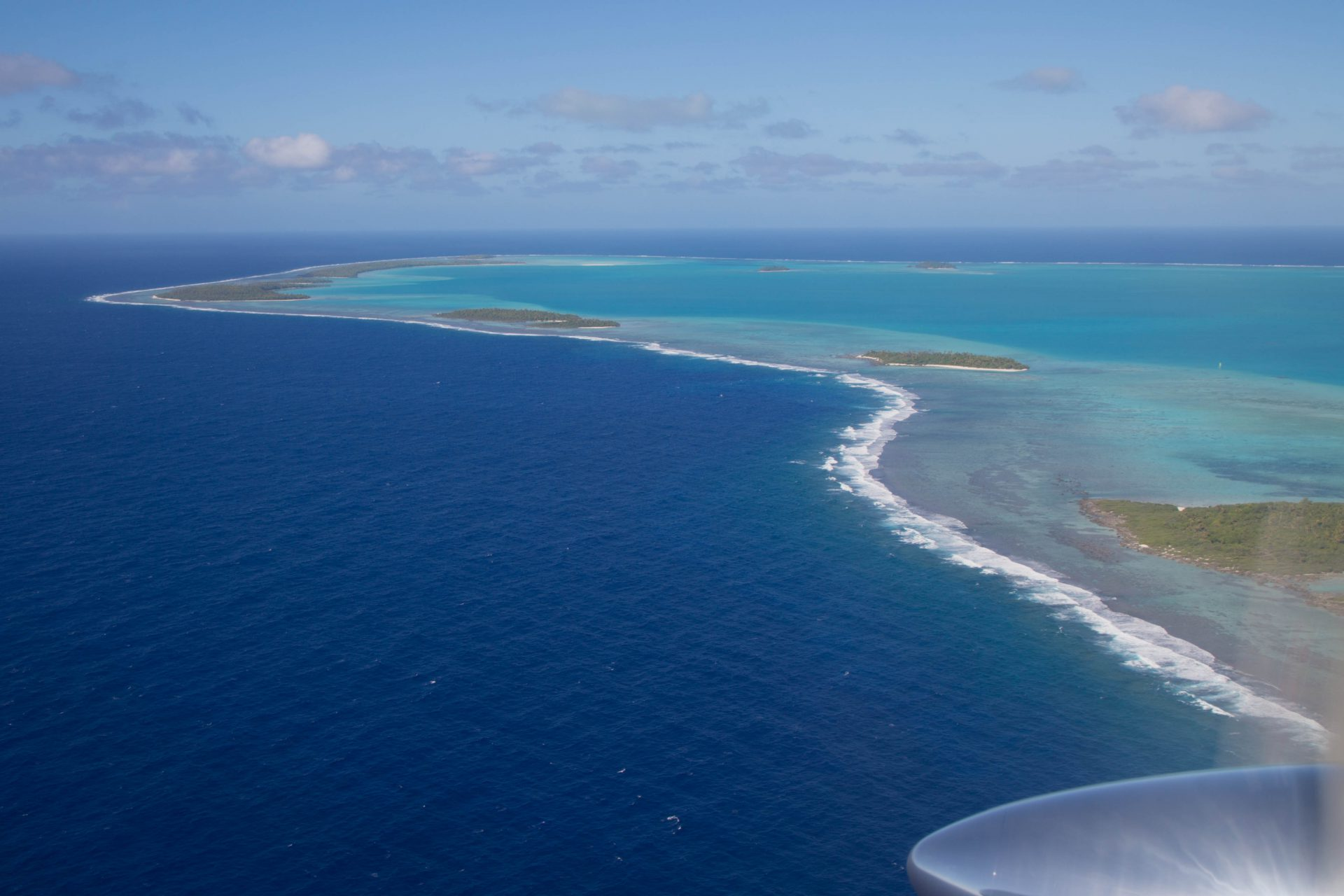 Aerial view of part of the Lagoon, Aitutaki