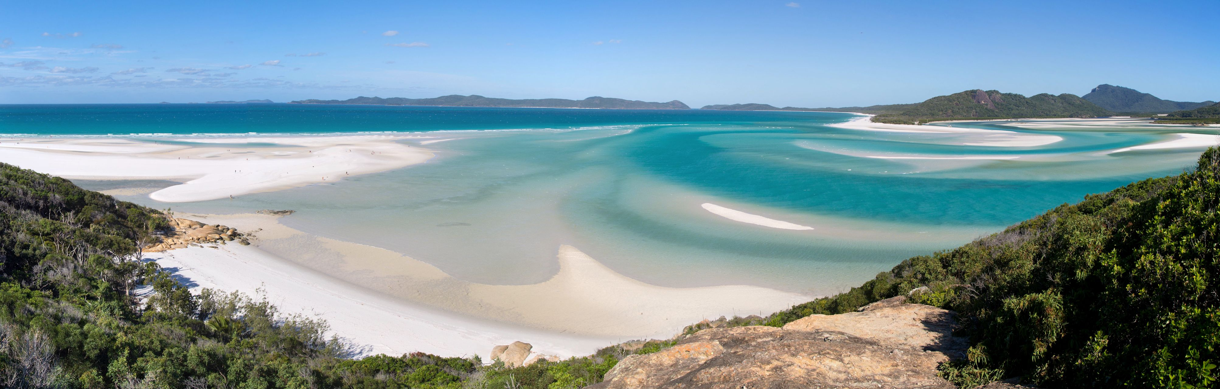 Whitehaven Beach from Hill Inlet viewpoint, Whitsunday Island