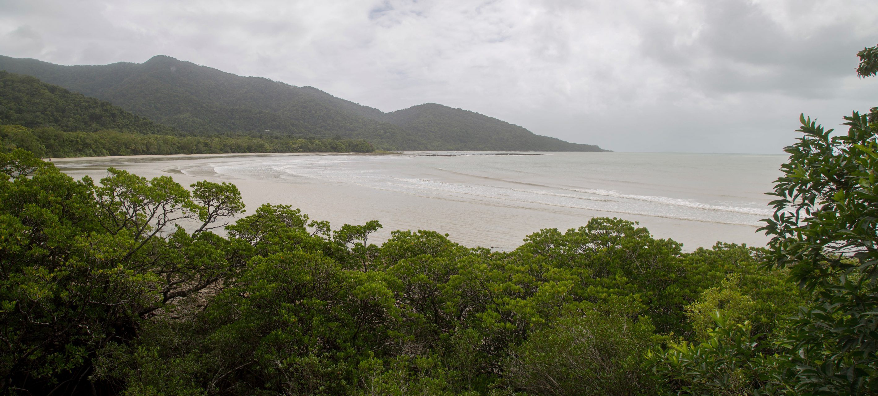 Cape Tribulation, named by Cpt Cook after running his ship on a coral reef here, Daintree National Park