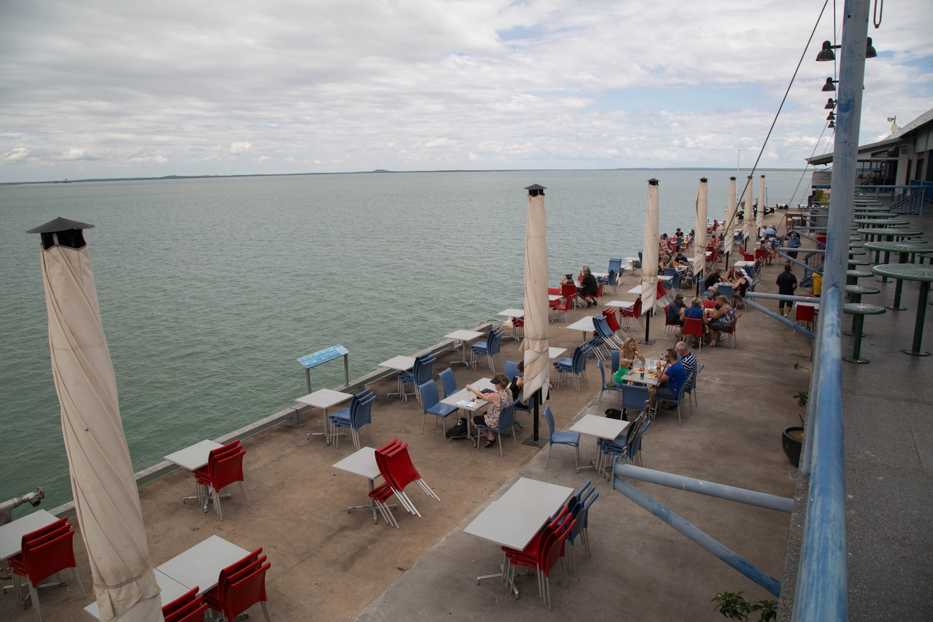 Fish & Chips at the Stokes Hill Wharf, Darwin