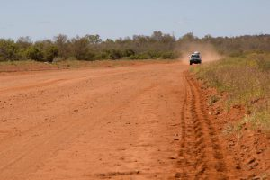 Lonesome travelling on Outback roads in the Northern Territory