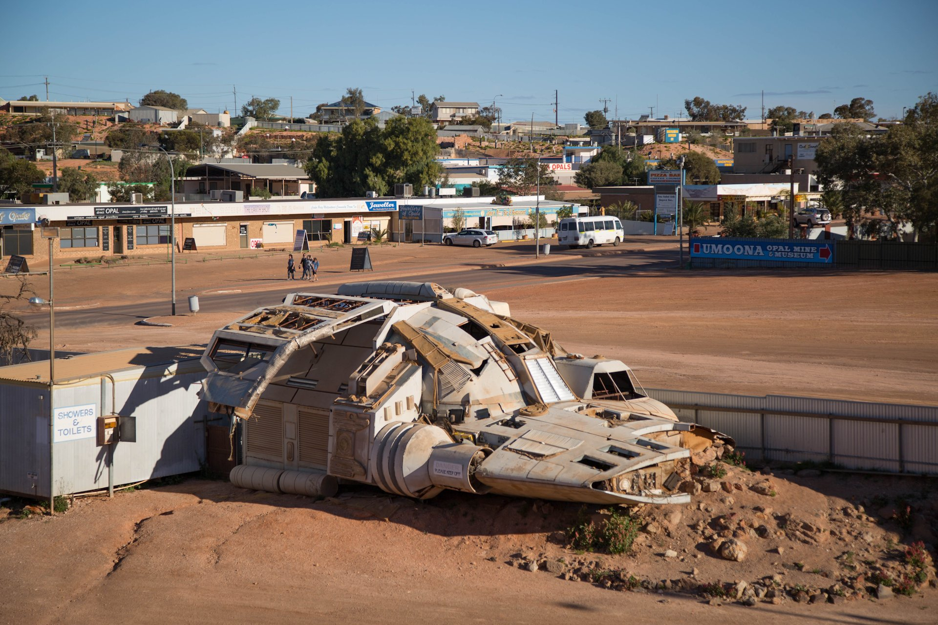 "Spacecraft from the movie ""Pitch Black"" with Vin Diesel which was partly shot around Coober Pedy (so was Mad Max)"