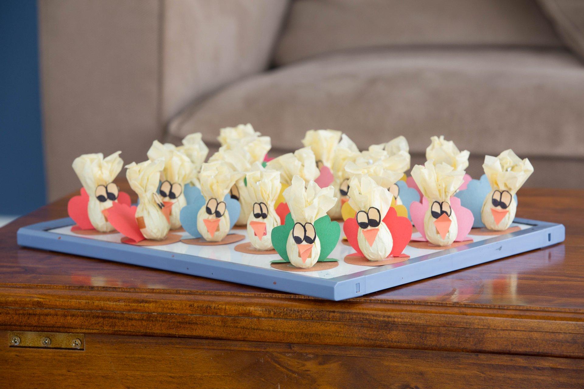 Praline turkeys awaiting their end...