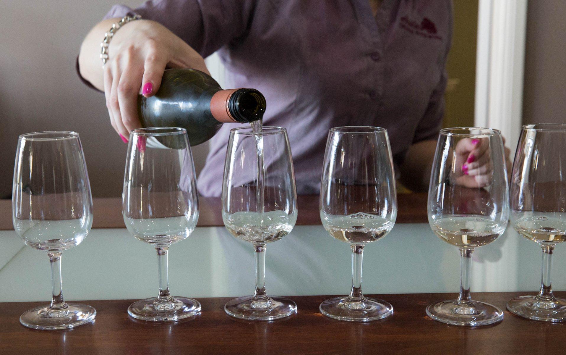 Wine tasting at Crooked River Winery, Kiama