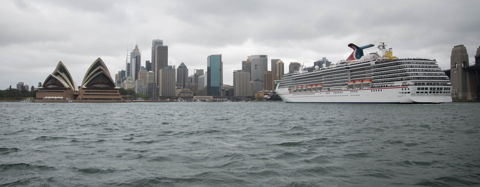 "Cruise Ship ""Carnival Spirit"" in the harbour of Sydney"